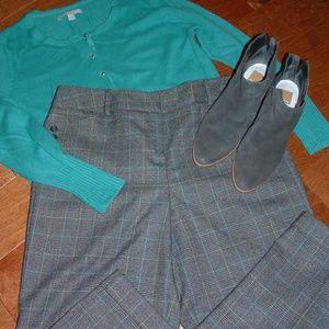 Talbots Size 14 Gray Cropped Pants